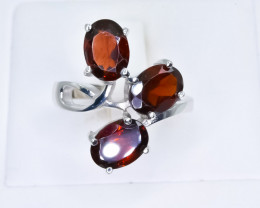 25.60 Crt Natural Garnet 925 Silver Ring