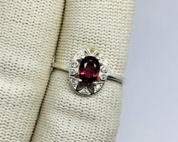 Natural Rhodolite Garnet Raspberry Color - 925 Sterling Silver