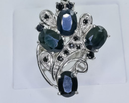 52.52 Crt Natural Sapphire 925 Sterling Silver Ring