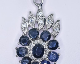 19.25 Crt Natural Sapphire 925 Sterling Silver pendant