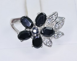 29.76 Crt Natural Sapphire 925 Sterling Silver Ring