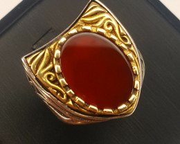 Turkish style Natural agate Ring.