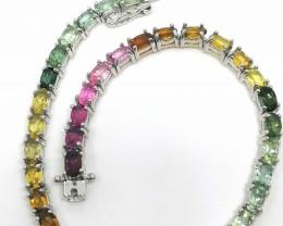 Rainbow Tourmaline Bracelet 8.18 TCW