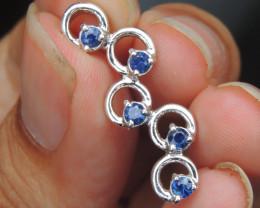 Sapphire in Rhodium Pendant