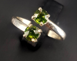 Natural Green Sapphire Ring.