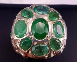 Amazing Natural Emerald Ring.