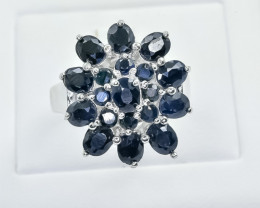 58.04 Crt Natural Sapphire 925 Silver Ring