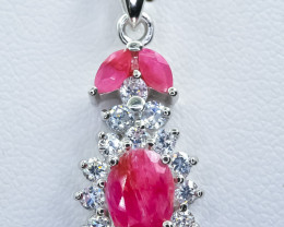 20.82 Crt Natural Ruby 925 Silver Pendant