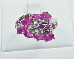 37.48 Crt Natural Ruby 925 Silver Ring