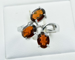 27.10 Crt Natural Garnet 925 Silver Ring