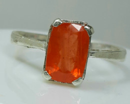 14.45 Carats very rare clinohumite 925 Silver Ring, 9x7x5mm.