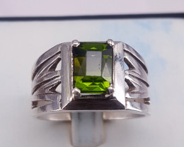 Natural Tourmaline  men Ring.
