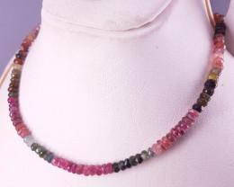 Natural Tourmaline Beds Necklace.