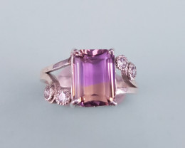 Hand Made Ametrine Ring