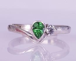 10.00 Caret Natural Very Beautiful Tsavorite Ring