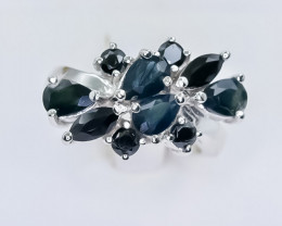 34.48 Crt Natural sapphire 925 Sterling Silver Ring
