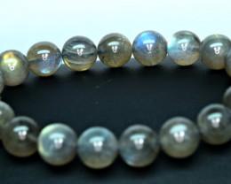 Natural lustrous nice11.2mm labradorite  20 Pis beads Bracelet (NR)