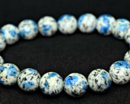 Natural lustrous nice 11mm K2nite 20 Pis beads Bracelet (NR)