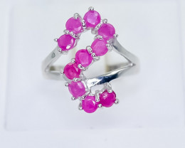 26.05 Crt Natural Ruby 925 Silver Ring