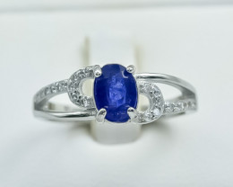 14.21 Crt Natural Sapphire 925 Silver Ring