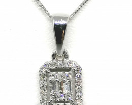 Certified Diamond Pendant and Chain 0.15tcw. - 9kt. Gold
