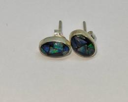 silver earring 950 mosaic