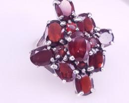 Natural Rhodolite Garnet Ring