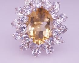 Lovely Style Natural Citrine Ring
