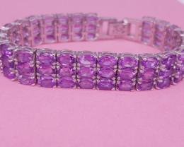 Natural Amethyst Bracelet