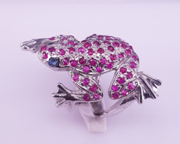 Frog design Ruby Ring