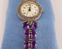 Very Beautiful Natural Amethyst Watch