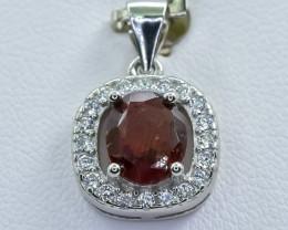 14.94 Crt Natural Garnet 925 Silver Pendant