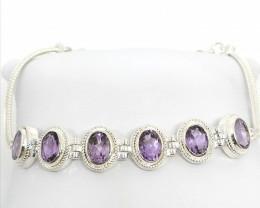 Rose De France Amethyst Bracelet 4.30 TCW