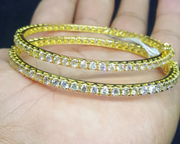 21k Gold Natural Diamonds bangles.