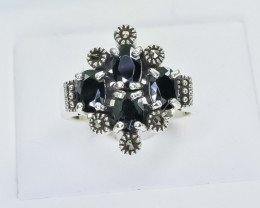 34.42 Crt Natural Sapphire 925 Sterling SilverRing