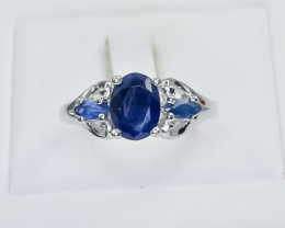 20.45 Crt Natural Sapphire 925 Sterling Silver Ring