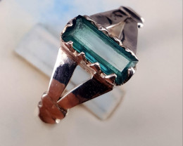 Natural Indicolite Tourmaline Ring.