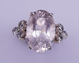 Natural Beautiful Morganite Ring