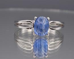 Natural Kyanite and 925 Silver Ring