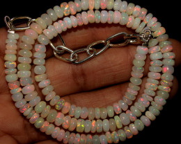 55 Crt Natural Ethiopian Welo Opal Necklace 436
