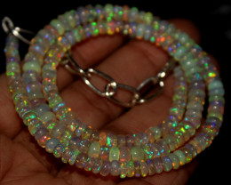 41 Crt Natural Ethiopian Welo Opal Necklace 403