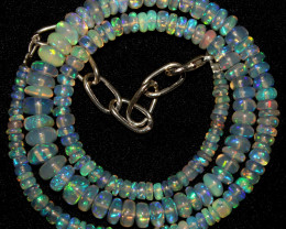 49 Crt Natural Ethiopian Welo Opal Necklace 414