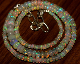 47 Crt Natural Ethiopian Welo Opal Necklace 441