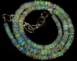 42 Crt Natural Ethiopian Welo Opal Necklace 423
