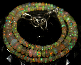 49 Crt Natural Ethiopian Welo Opal Necklace 429