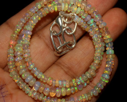 32 Crt Natural Ethiopian Welo Opal Necklace 46
