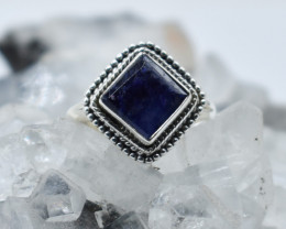 BLUE SAPPHIRE RING 925 STERLING SILVER NATURAL GEMSTONE JR931