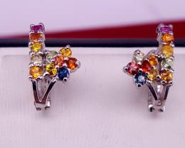 Natural rainbow  sapphire Earring.