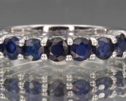 NaturalSapphire with 925 Silver Ring