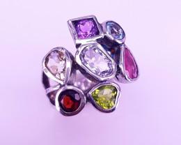 Natural Mix Stones Ring